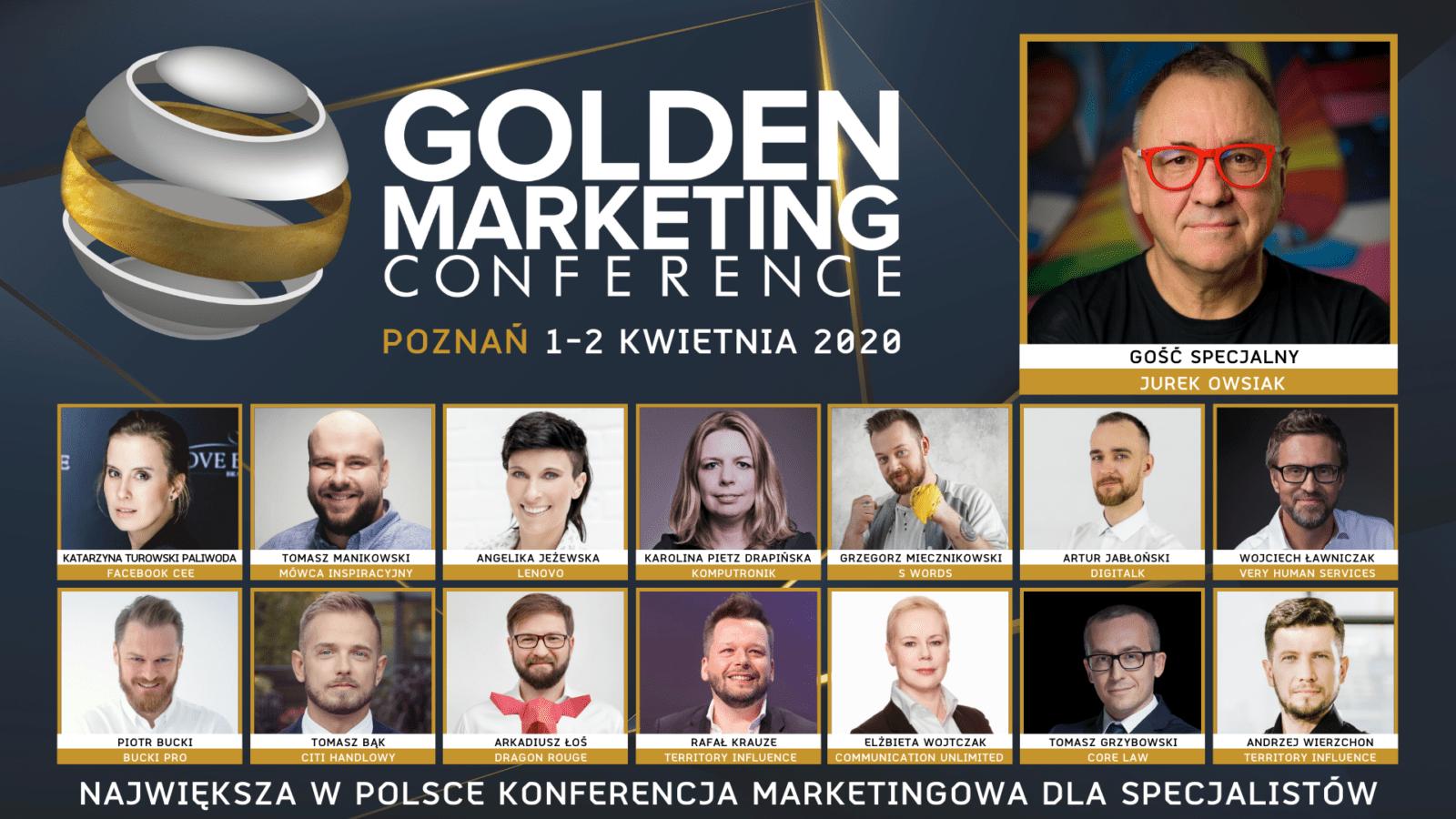 Jurek Owsiak – Twórca Fundacji Wielkiej Orkiestry Świątecznej Pomocy– gościem specjalnym Golden Marketing Conference