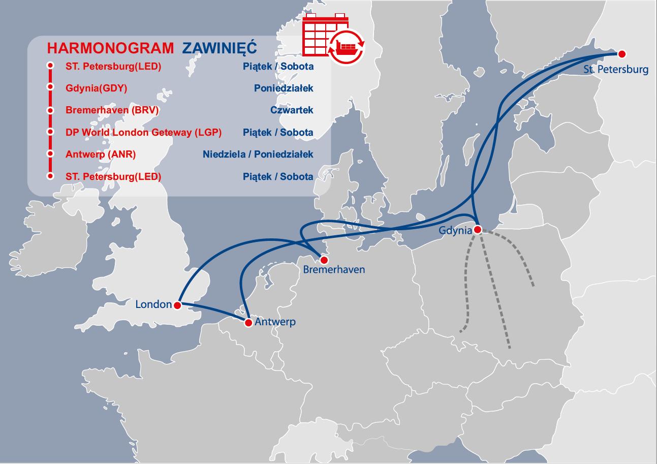 Wzrost połączeń regularnych w Porcie Gdynia